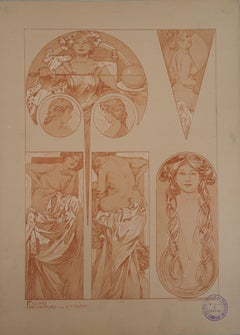 The Bathers - Lithograph 1902