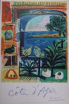 French Riviera - Stone lithograph (Mourlot) - 1962
