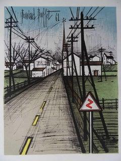 The Road - Original lithograph - Mourlot 1962