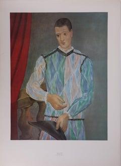 Harlequin - Original vintage poster of Picasso Museum - 1966