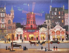 Paris : le Moulin Rouge - Lithograph poster