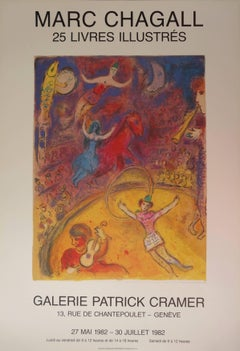 Circus - 25 illustrated books - Vintage poster - 1982