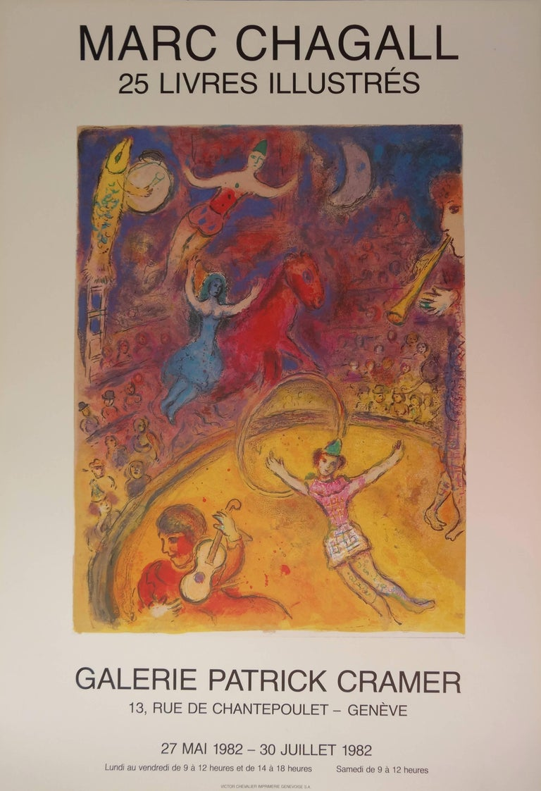 (after) Marc Chagall Figurative Print - Circus - 25 illustrated books - Vintage poster - 1982