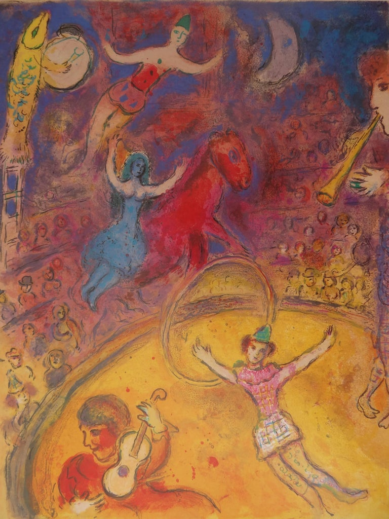 Circus - 25 illustrated books - Vintage poster - 1982 - Print by (after) Marc Chagall