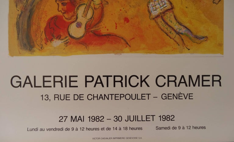 After Marc CHAGALL Circus  Offset vintage poster, 1982 On heavy paper 66 x 46 cm / 26 x 18