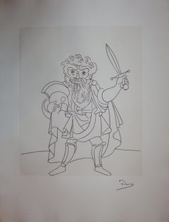 Soldier with a Sword - Original etching - 1951