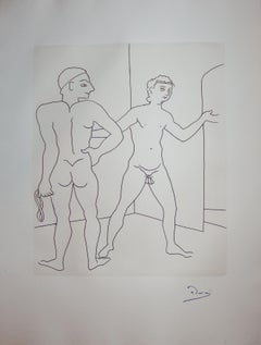 Entering the Sauna - Original etching - 1951