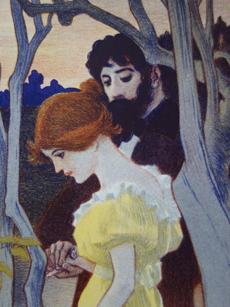 Crépuscule (Twilight) - Original lithograph (1897/98) - Print by Paul Balluriau