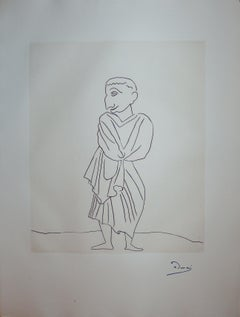 Roman in Antic Costume  - Original etching - 1951