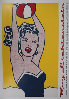 Woman with Red Ball - Original vintage poster, Bruxelles 1995