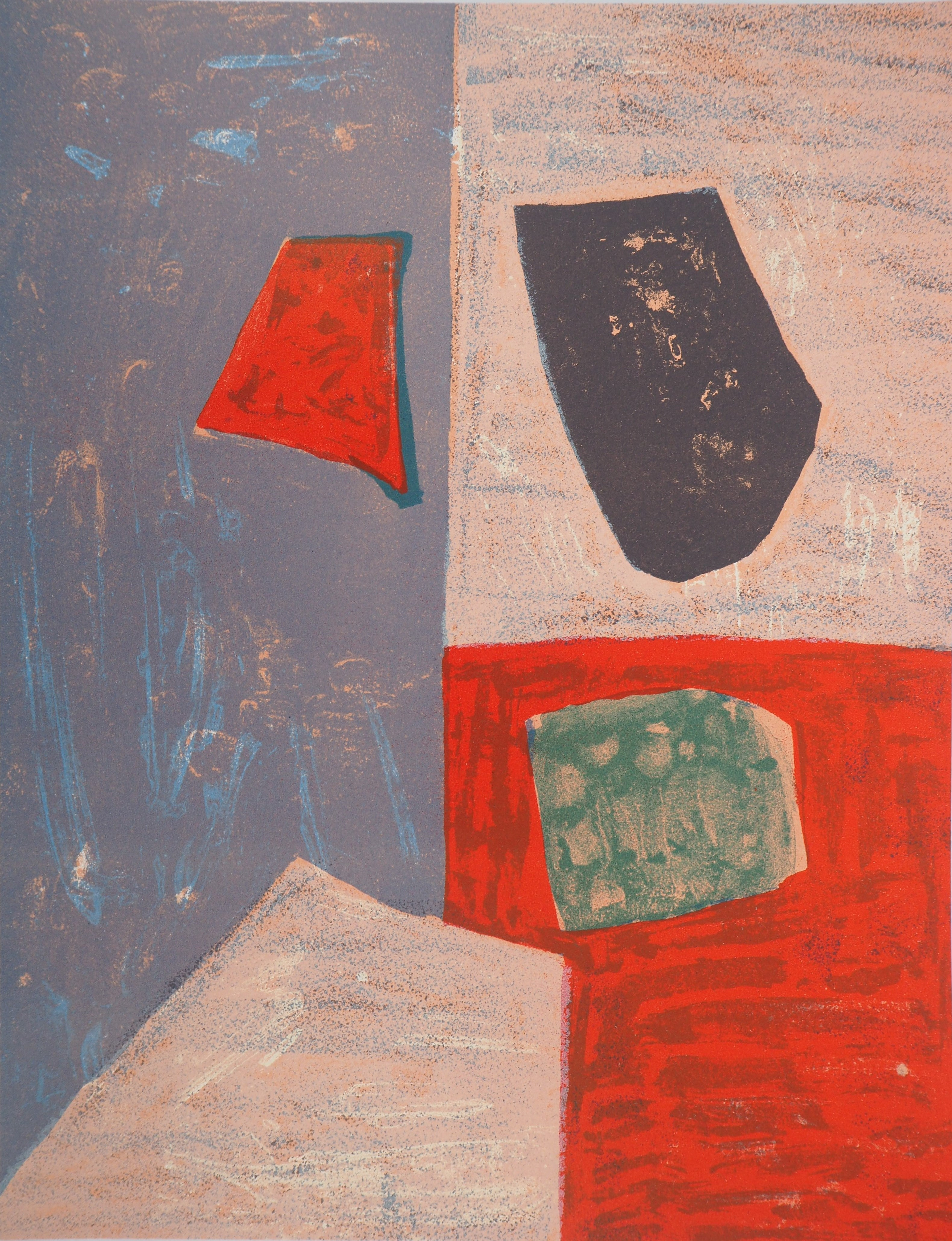 Abstract composition - Original lithograph (Riviere #17)