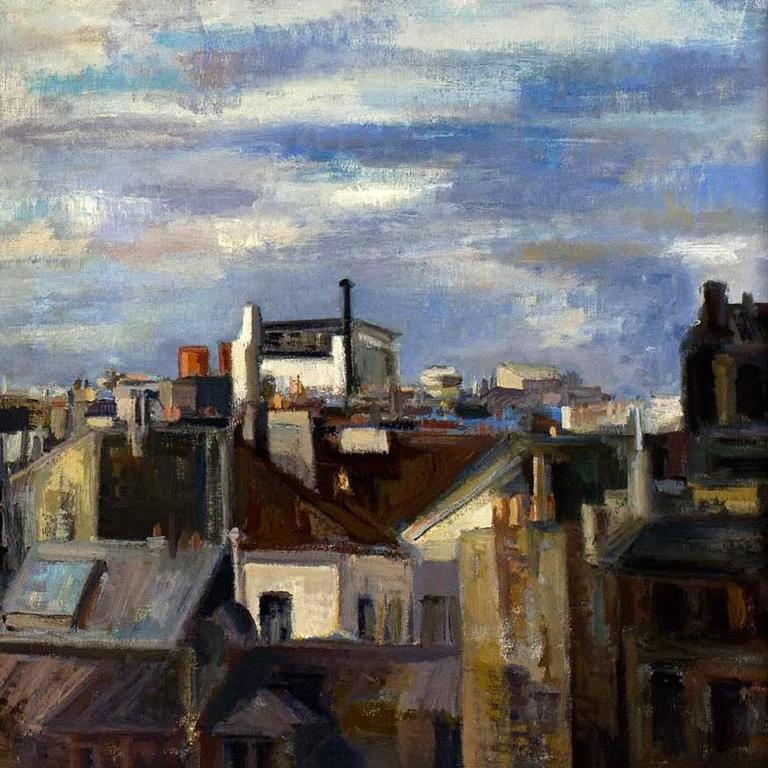 Paris Cityscape I - Painting by Marion Pike