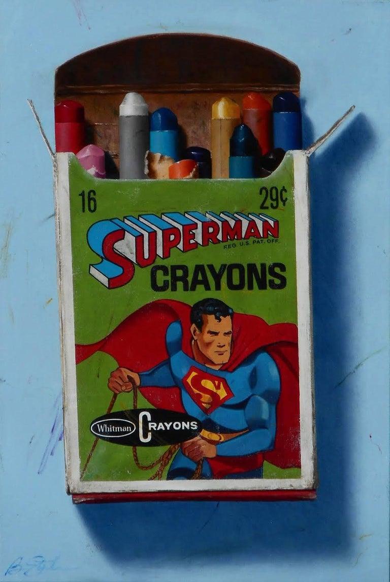 Ben Steele Figurative Painting - Supeman Crayons