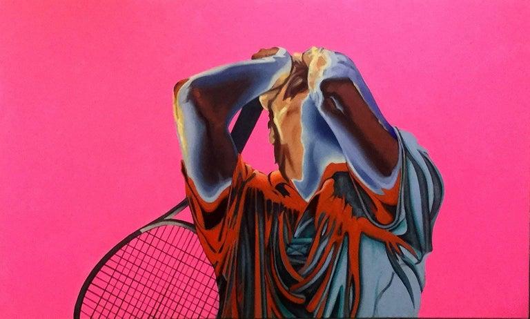 Tim Townsley Figurative Painting - Tennis Rush
