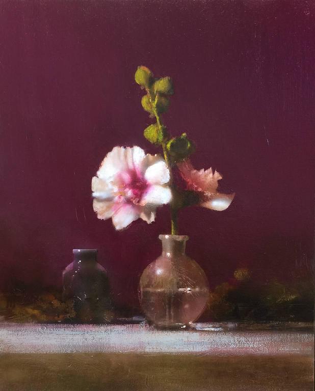 Hollyhock - Painting by David Dornan
