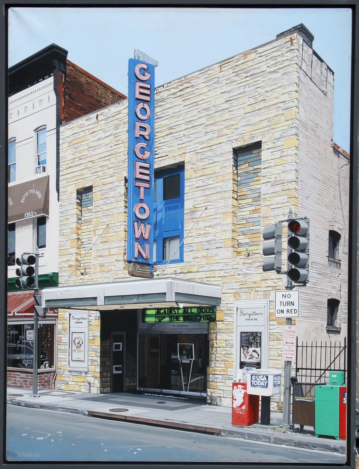 Charles ford georgetown movie theatre painting at 1stdibs for Georgetown movie theater