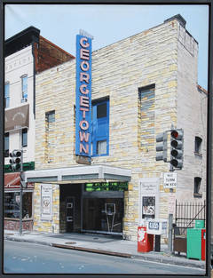 Charles ford umberto 39 s clam house acrylic on panel for Georgetown movie theater