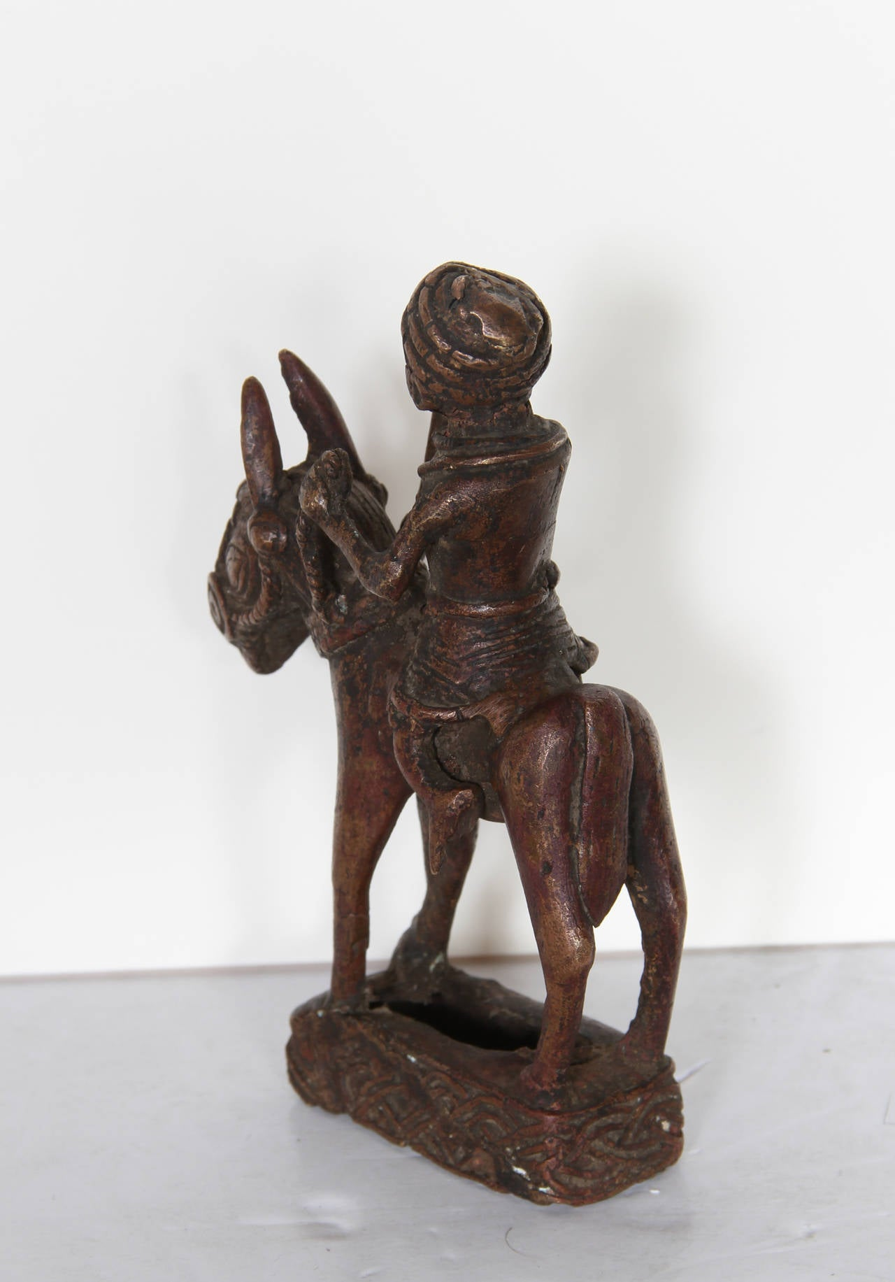 Unknown benin horse and rider bronze sculpture for - Bronze sculptures for sale ...