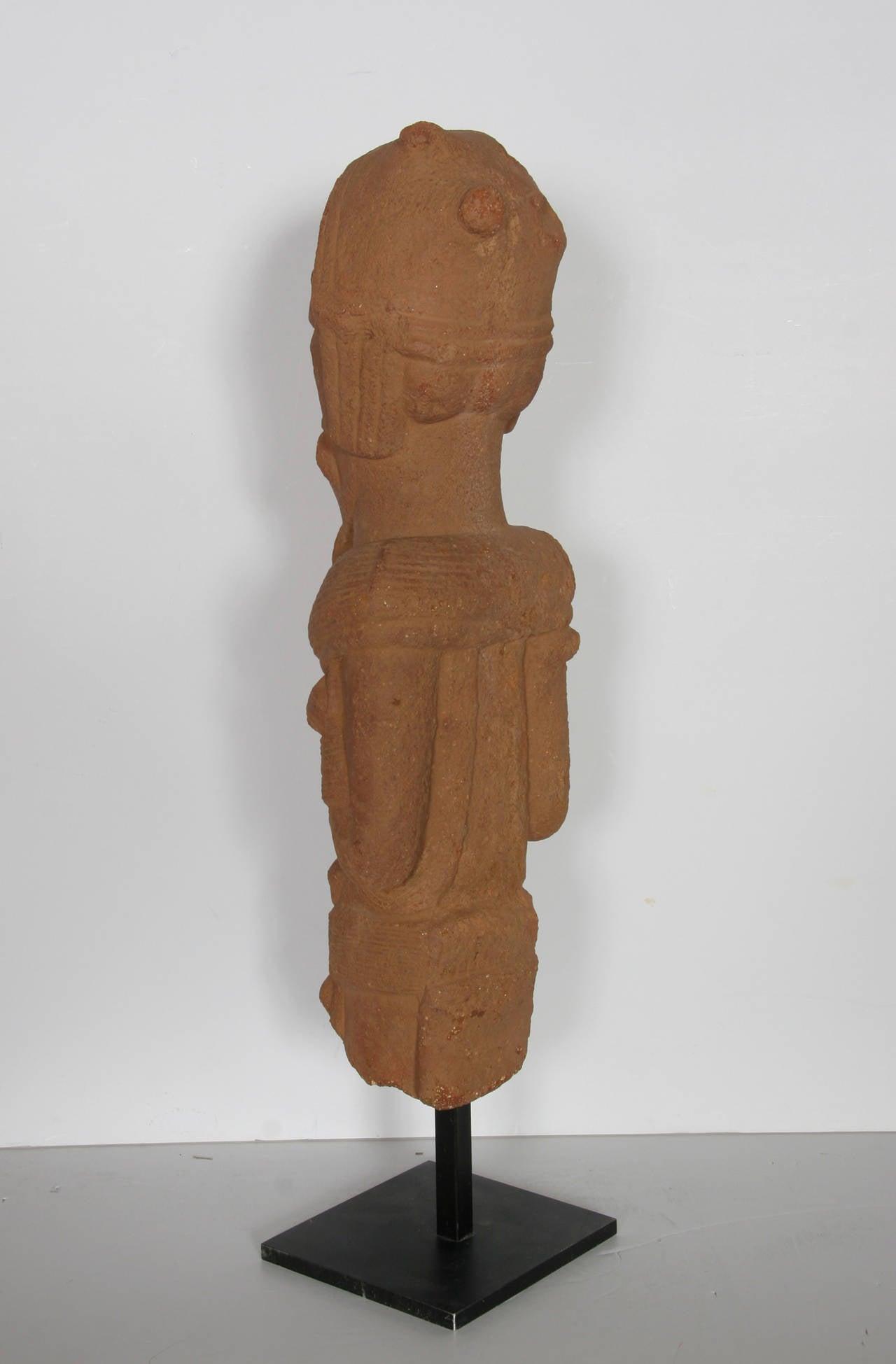 Nok Head Figurine (Nigeria), 500BC-200AD Terra Cotta Sculpture 2