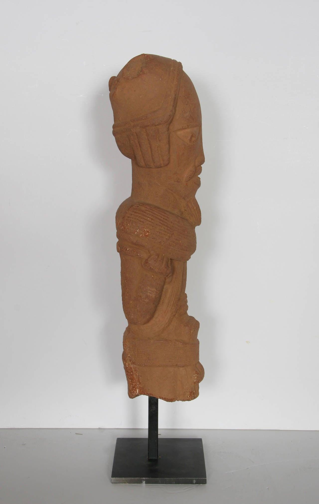 Nok Head Figurine (Nigeria), 500BC-200AD Terra Cotta Sculpture 4