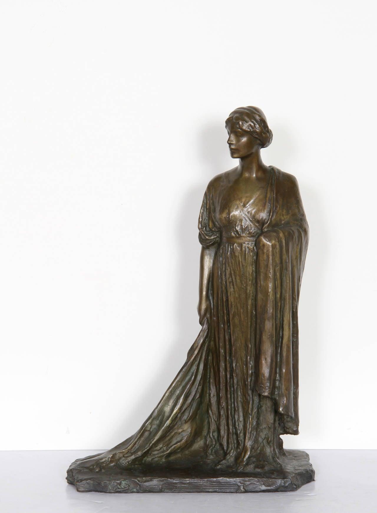 Standing Woman, Bronze Sculpture by Bessie Potter Vonnoh 1911