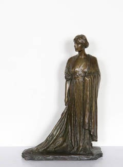 Standing Woman, Bronze Sculpture by Bessie Potter Vonnoh 1911