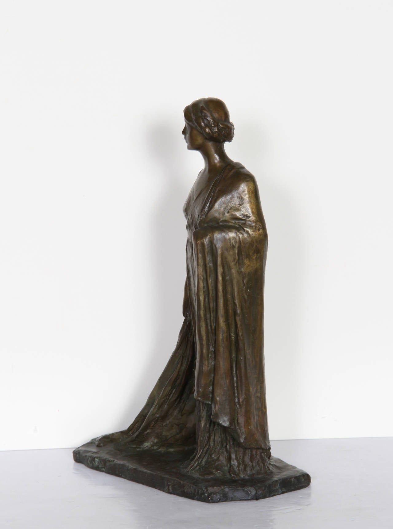 Standing Woman, Bronze Sculpture by Bessie Potter Vonnoh 1911 For Sale 1
