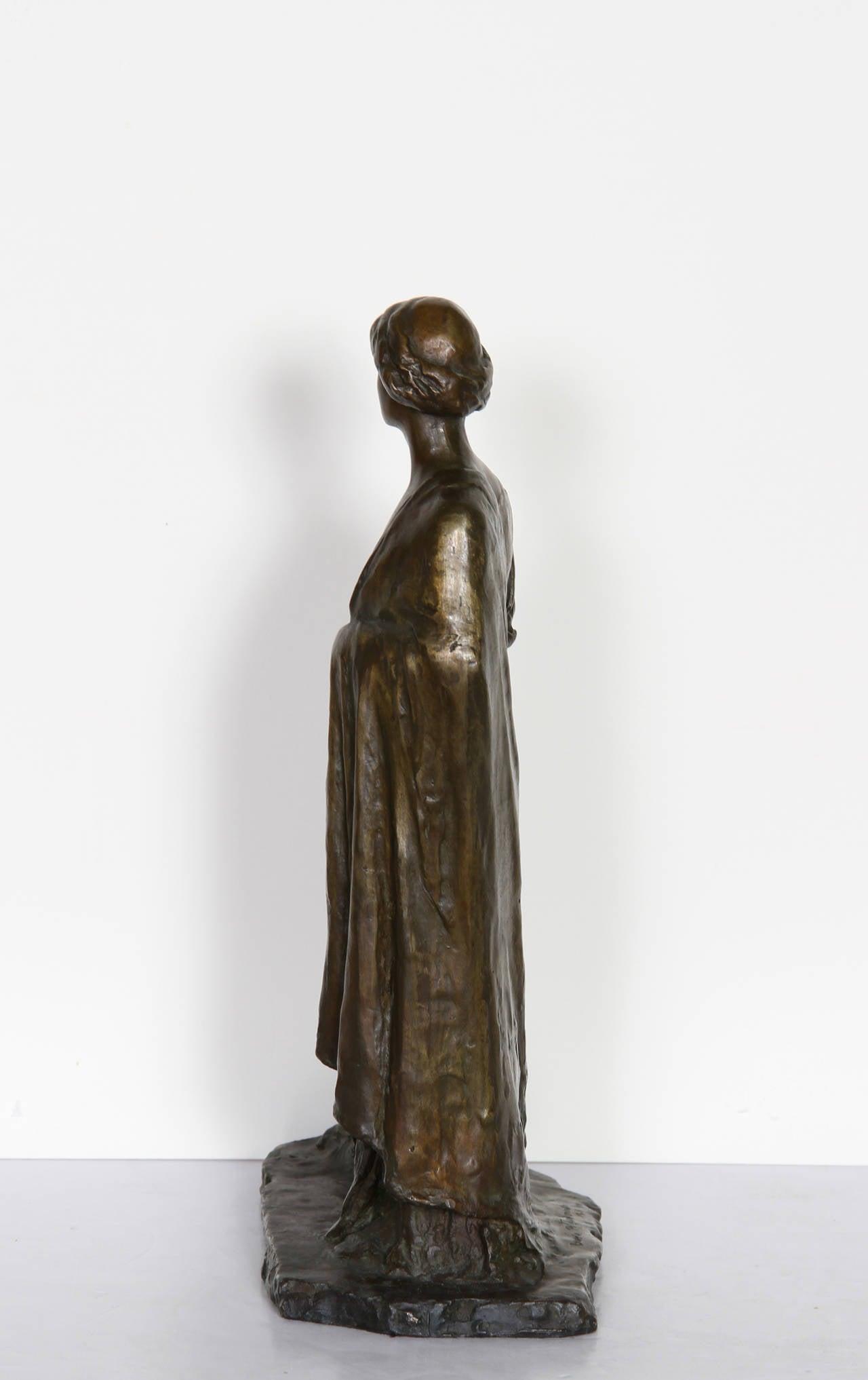 Standing Woman, Bronze Sculpture by Bessie Potter Vonnoh 1911 For Sale 2