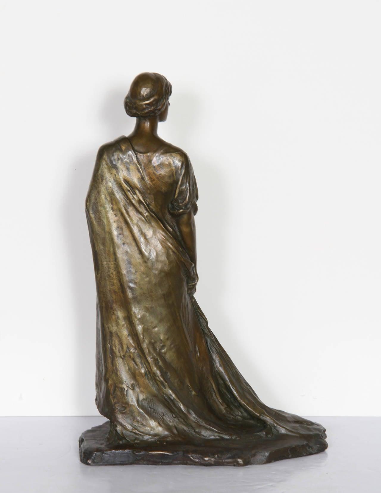 Standing Woman, Bronze Sculpture by Bessie Potter Vonnoh 1911 For Sale 3