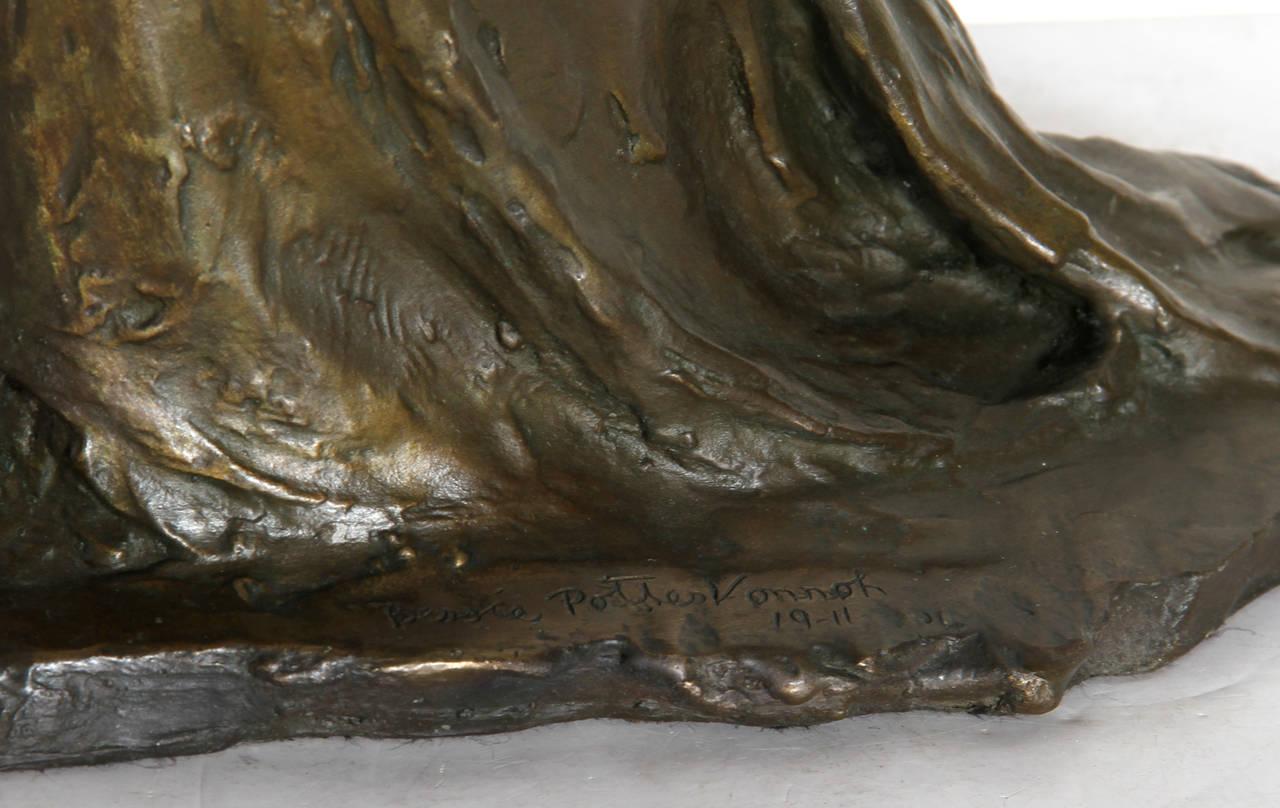 Standing Woman, Bronze Sculpture by Bessie Potter Vonnoh 1911 For Sale 6
