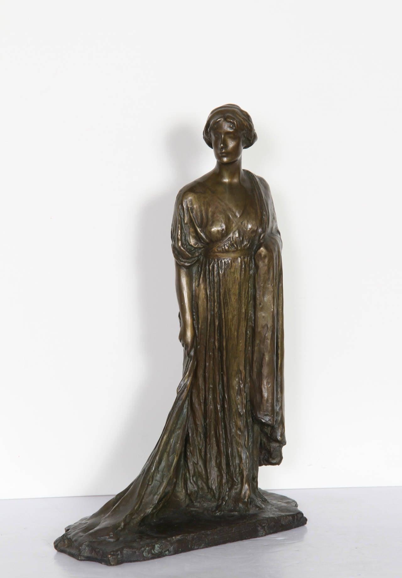Standing Woman, Bronze Sculpture by Bessie Potter Vonnoh 1911 For Sale 5