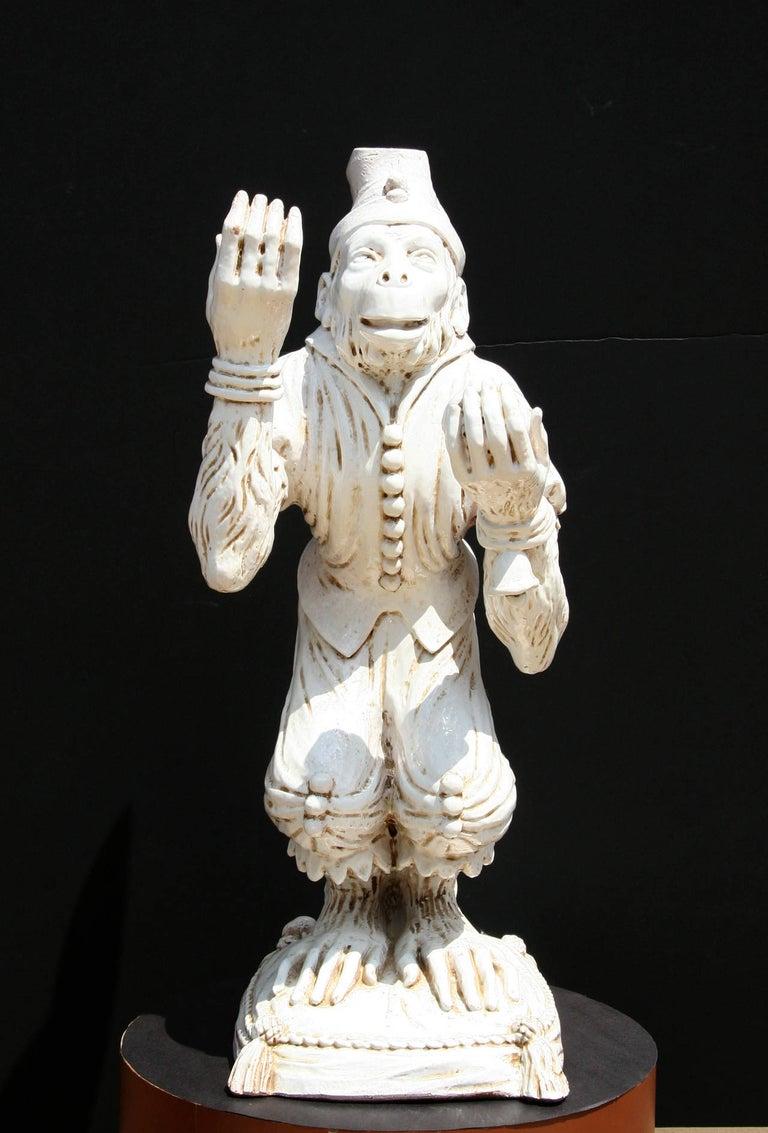 Unknown Figurative Sculpture - Juggling Monkey, Porcelain Sculpture
