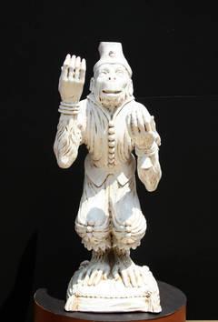 Juggling Monkey, Porcelain Sculpture