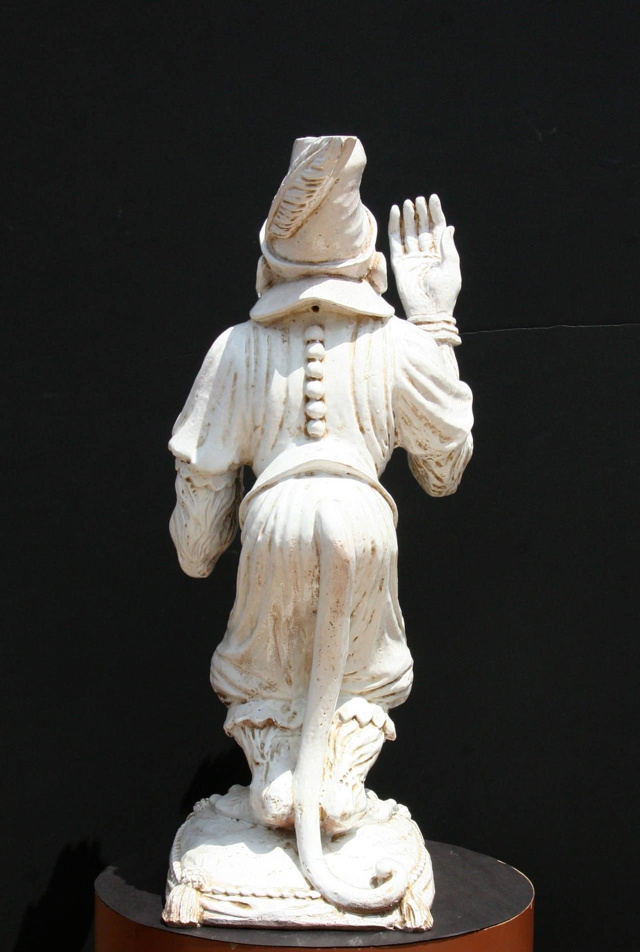 Juggling Monkey, Porcelain Sculpture For Sale 1