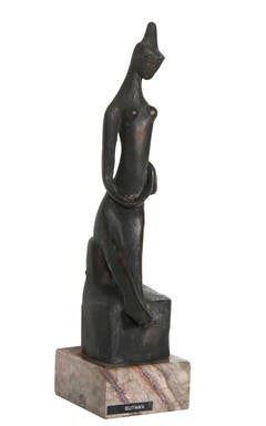 Praying Woman, Modern Bronze Sculpture
