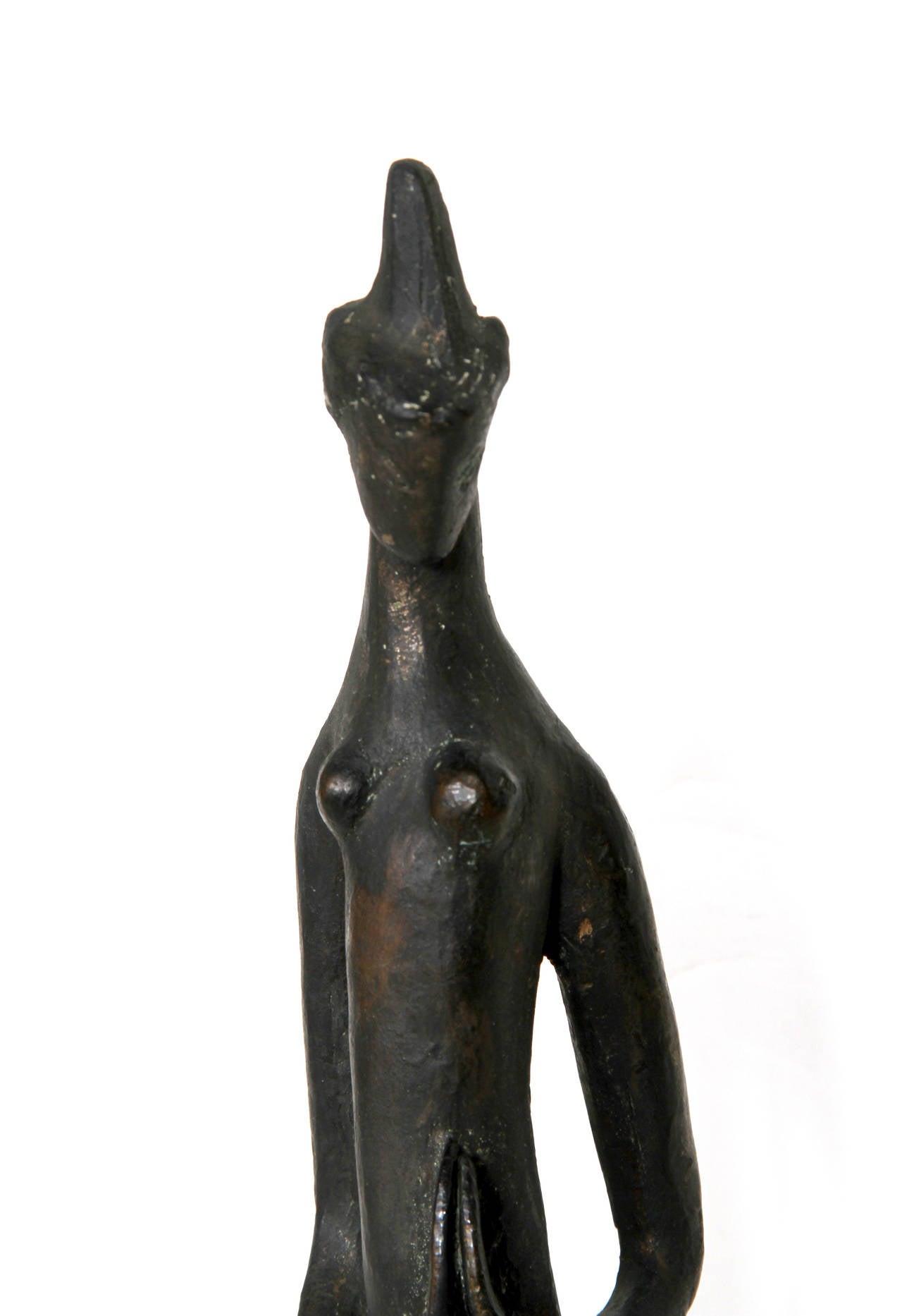 Praying Woman, Modern Bronze Sculpture For Sale 3