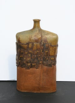 Tabletop Flask/Vase, Unique Artist's Ceramic, circa 1970