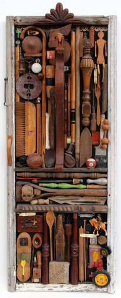 Found Object Wall Sculpture/Relief by Gertie Lowe