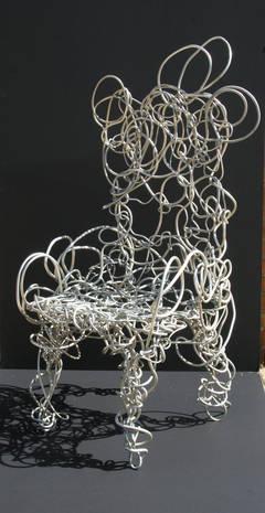 Unique Aluminum Sculptural Chair