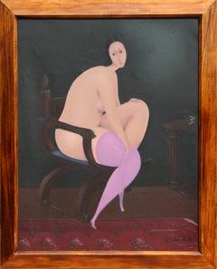Nude with Purple Stockings