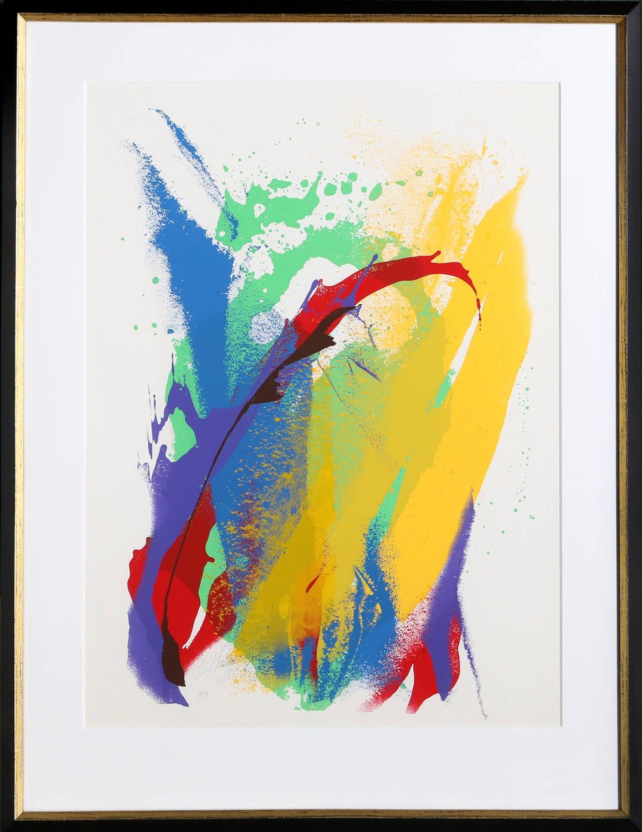 Kendo, Framed Abstract Silkscreen by Paul Jenkins