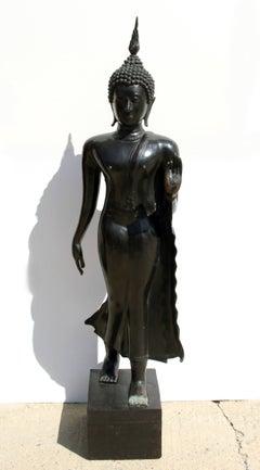 Lotus, Bronze Sculpture Thai Original Early 20th Century