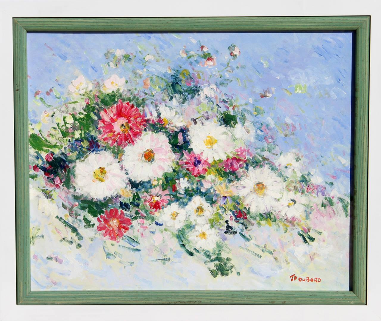 Jean pierre dubord les fleurs du jardin painting for for Jardin francais jewelry