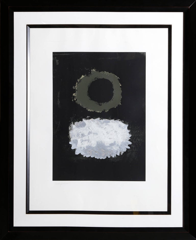Artist:Adolph Gottlieb, American (1903 - 1974) Title:Black Field Year:1972 Medium:Silkscreen, Signed and numbered in pencil Edition: 126/150 Image: 24 x 17.5 inches  Size:36 x 28 inches