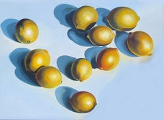 Ten Lemons on Blue