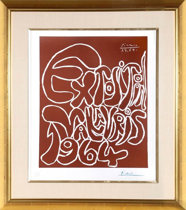 Pablo Picasso Print - Exposition Vallauris 1964