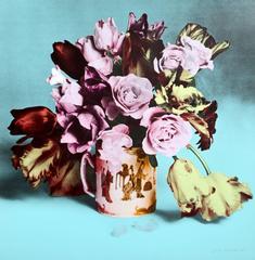 Flower Arrangement in Mug, Turquoise