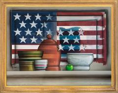 Still Life with American Flag