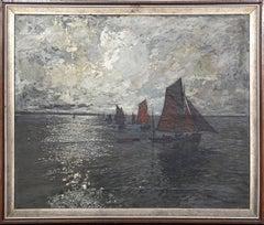 Au Sortie du Port, Oil Painting circa 1920