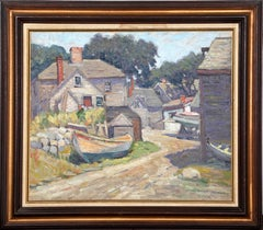 Gloucester, MA, 1926 Oil Painting by Ernest Beaumont